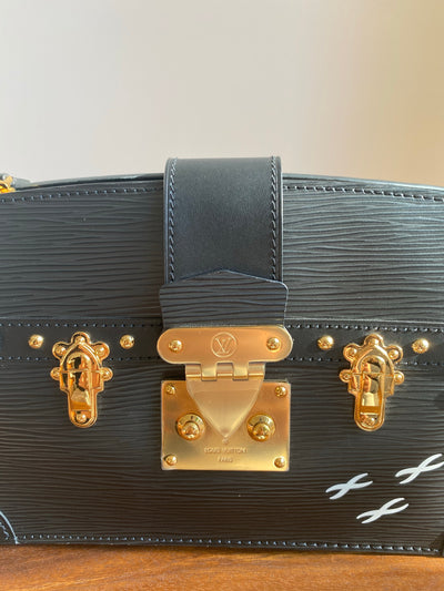 Louis Vuitton Black Epi Trunk Clutch M53052