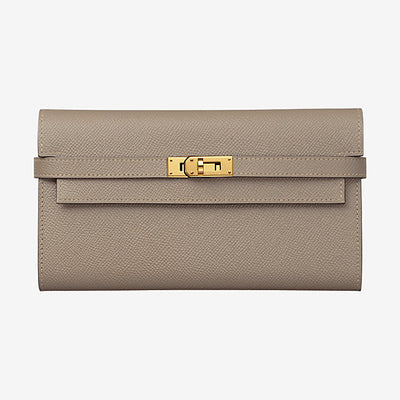 Hermes Etoupe Long Kelly Classic Wallet - The-Collectory