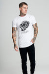 Judas Sinned Punk Skull T-Shirt - White