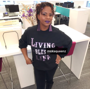 Living My Blessed Life Black and Purple Sweatshirt - Moka Queenz