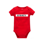 Legend Legacy Onesie - LEGACY - Red Onesie with White and black text - MoKa Queenz