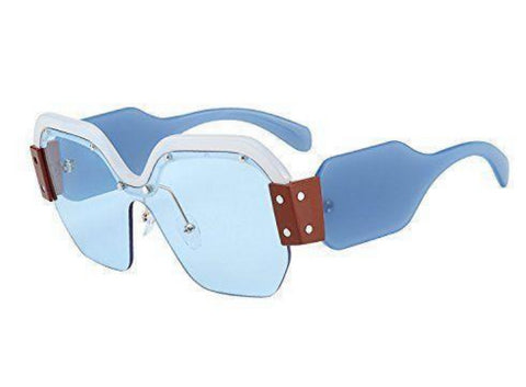 Oversized Sunglasses - Level Up - Blue - MoKa Queenz