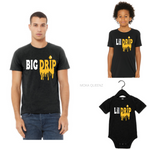 Matching Dad and Son Shirts| Black T-shirt with Yellow  and white text - Moka Queenz