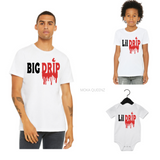 Matching Dad and Son Shirts| White T-shirt with black and red text - Moka Queenz