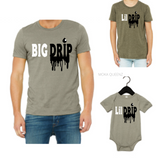 Matching Dad and Son Shirts| Stone T-shirt with black and white text - Moka Queenz