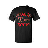 Empowered Women  Rock - Black t shirt with Red and Coral print - MoKa Queenz