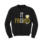Christian Sweatshirt - It is Finished - Black/Gold - MoKa Queenz
