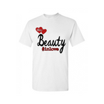 Couple Shirts | Beauty Couple T Shirt - White, Black, red - MoKa Queenz