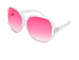 Oversized Sunglasses - Sweet Treats - Pink and clear - Moka Queenz