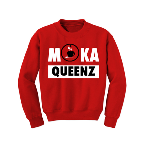 MoKa Queenz Sweatshirt - Red - MoKa Queenz