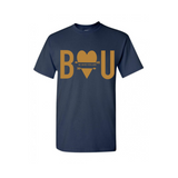 Be Yourself T Shirt | Inspirational T Shirt - Navy t shirt with gold print - MoKa Queenz