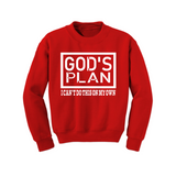 Christian Sweatshirt - God's Plan -  Red/White - MoKa Queenz