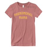 Phenomenal Woman Shirt | Phenomenal Mom Shirts | Taupe T-shirt with Gold text | MoKa Queenz