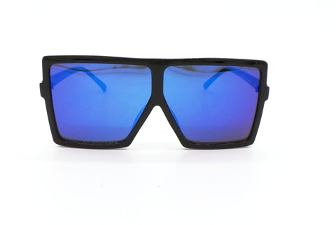 Oversized Sunglasses | Eyes Wide Open Oversized Glasses - Black and Blue - MoKa Queenz