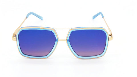 Aviator Sunglasses | Taste of Tropics Aviator Sunglasses - Blue - MoKa Queenz
