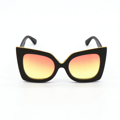 Oversized Sunglasses | She's So Shady Sunglasses - Orange and Yellow - MoKa Queenz