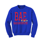 Kids Sweatshirt - BAE Sweatshirt - Royal sweatshirt with red and yellow print- MoKa Queenz