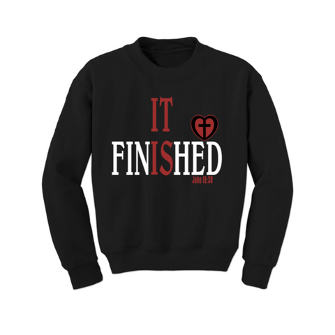 Christian Sweatshirt - It is Finished - Black/Red - MoKa Queenz