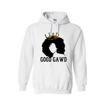 Black Queen Shirt | Melanin Shirt - GoodGAWD Hoodie - White Hoodie with black and gold graphic - MoKa Queenz