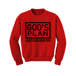 Christian Sweatshirt - God's Plan -  Red/Black - MoKa Queenz