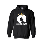 Black Queen Shirt | Melanin Shirt - GoodGAWD Hoodie - Black Hoodie with white and gold graphic - MoKa Queenz