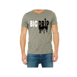 Big Drip Dad Shirt | Dad and Son Shirts | Stone T-shirt with black and white text - Moka Queenz