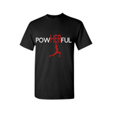 PowHERful Shirt -Women's Empowerment shirt - -Black t shirt with white and Red print - MoKa Queenz