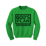 Christian Sweatshirt - God's Plan -  Green/Black - MoKa Queenz