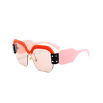 Oversized Sunglasses - Level Up - Pink and Red - MoKa Queenz