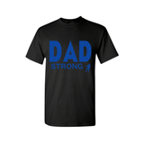 Dad STRONG Shirt | Dad Shirt | Black T shirt with Royal Blue text - MoKa Queenz