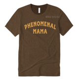 Phenomenal Woman Shirt | Phenomenal Mom Shirts | Chocolate Brown T-shirt with Gold text | MoKa Queenz