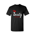 Couple Shirts | Beauty Couple T Shirt - Black, red, white - MoKa Queenz