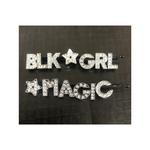 Rhinestone Bobby Pins | Blk Grl Magic Bling Hair Pin - Silver Alloy Rhinestone Hair Pin