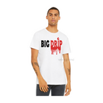 Big Drip Dad Shirt | Dad and Son Shirts | White T-shirt with black and red text - Moka Queenz