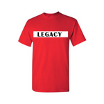 Legend Legacy Kids T Shirts - Legacy - Red  T-shirt with white and black text- Moka Queenz