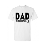 Dad STRONG Shirt | Dad Shirt | White T shirt with Royal Black text - MoKa Queenz