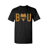 Be Yourself T Shirt | Inspirational T Shirt - Black t shirt with gold print - MoKa Queenz