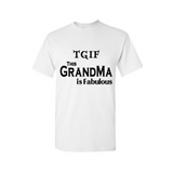 Fabulous Grandma Shirts - White T shirt with Black Text - MoKa Queenz