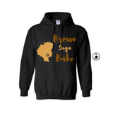 Brown Suga Babe Hoodie | Melanin Shirt | - Black Hoodie with Brown and Tan Graphic - MoKa Queenz