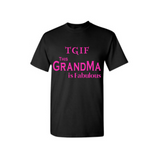 Fabulous Grandma Shirts - Black T shirt with Pink Text - MoKa Queenz