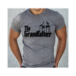 The GrandFathe Shirt | Grandpa Shirt - Grey t shirt with Black print - MoKa Queenz