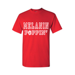 Melanin Poppin T-Shirt - Red t shirt with White text - MoKa Queenz