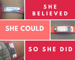 """She Believed"" Leather Bracelet - Mo-Ka Queenz"