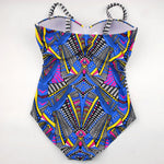 Plus Size Bathing Suits | Tribal Plus Size Swimsuits - Back of One Piece - Moka Queenz