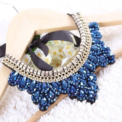 Beaded Collars | Beaded Chokers - Blue - MoKa Queenz