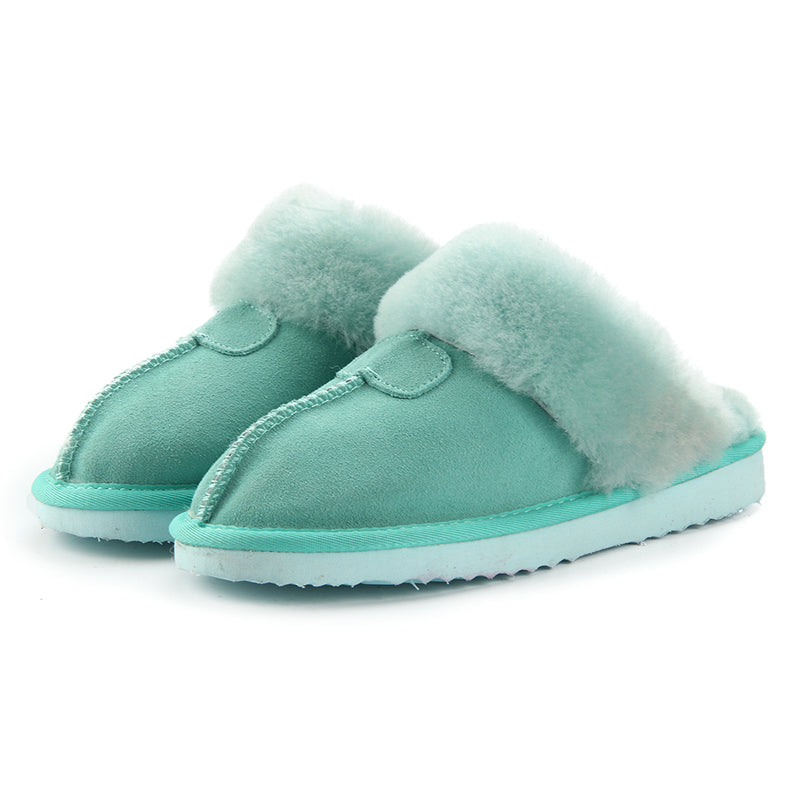 Natural Fur Slippers Fashion Slippers Warm Indoor Slippers Quality Soft Wool Home Shoes