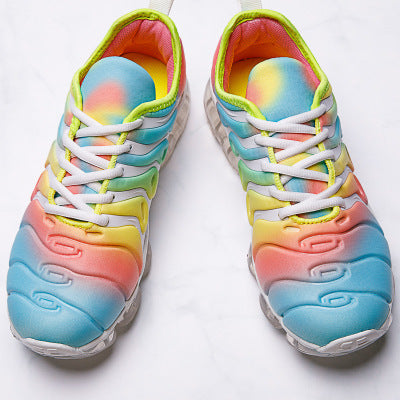 Sneakers Flat Outdoor Sports Shoes Multicolor Leisure Comfortable Lace Up Flat Shoe