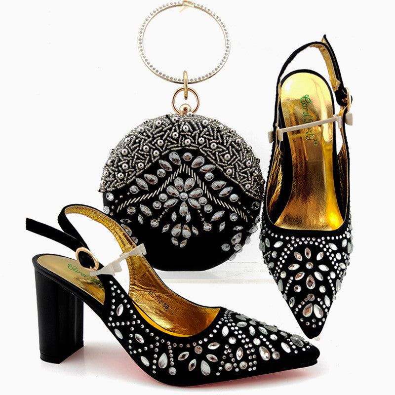 New Design Women Shoes And Bag Set Matching Shoes And Bag For Party