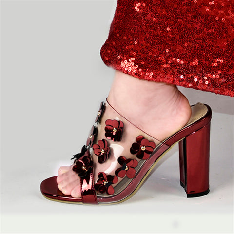 Sandals Women Metal Decoration Designer Shoes Heels Party