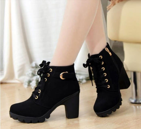New Fashion Pu Leather Platform Shoes Women's Pumps High Heel Luxury Shoes Women Designers